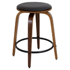 Porto Counter Stool - Swivel, Walnut, Brown (Set of 2)