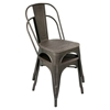 Oregon Stackable Dining Chair - Antique, Espresso (Set of 2)