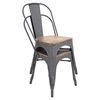 Oregon Stackable Dining Chair - Gray (Set of 2)