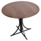 Boro Round Dining Table - Pedestal Base, Walnut - LMS-DT-BORO-WL-BK