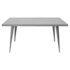 Austin Rectangular Dining Table - Matte Gray