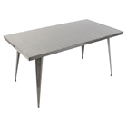 Austin Rectangular Dining Table - Brushed Silver