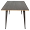 Oregon Rectangular Dining Table - Antique, Espresso - LMS-DT-TW-OR6036-E