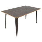 Oregon Rectangular Dining Table - Antique, Espresso