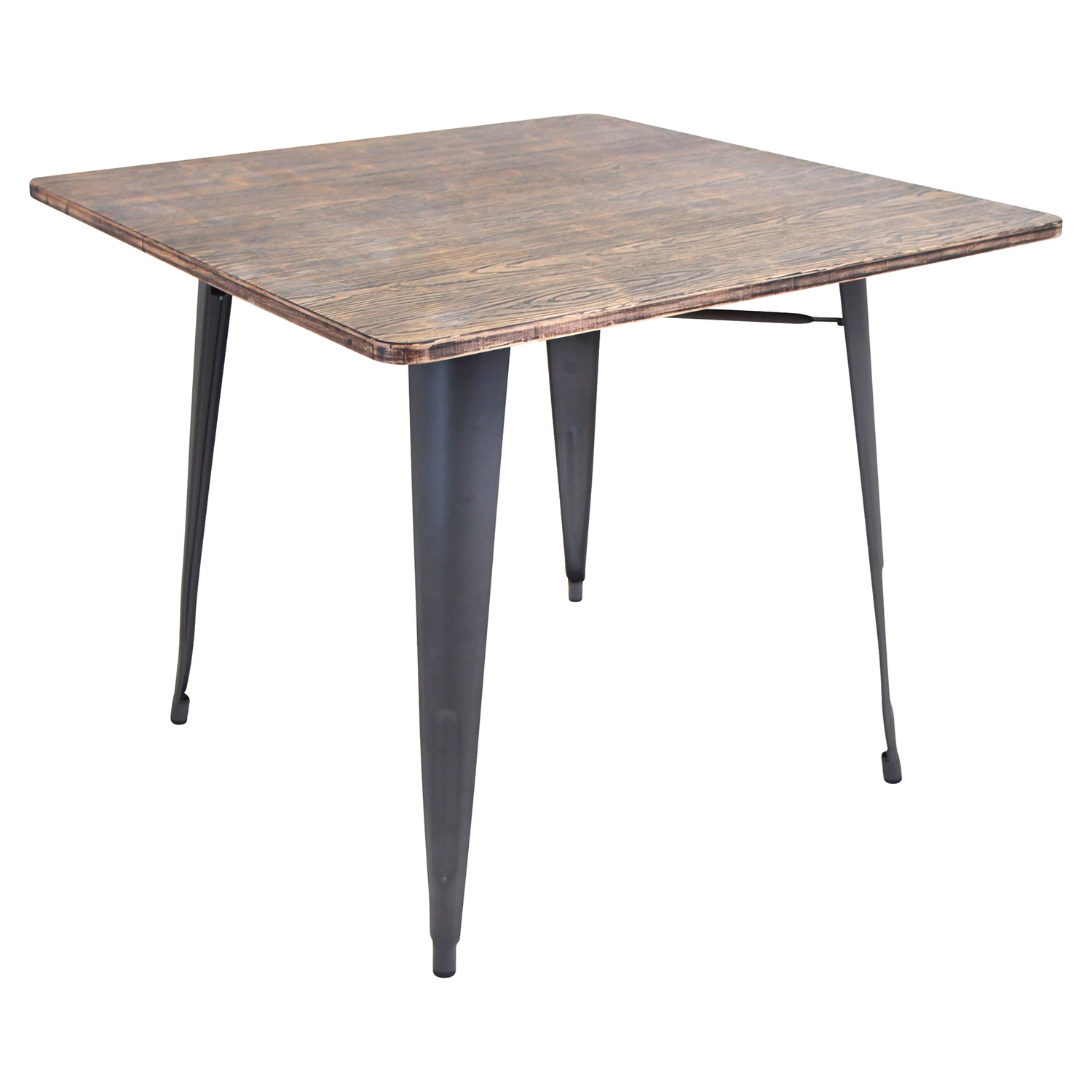 Oregon Square Dining Table - Gray - LMS-DT-TW-ORTB-SQ