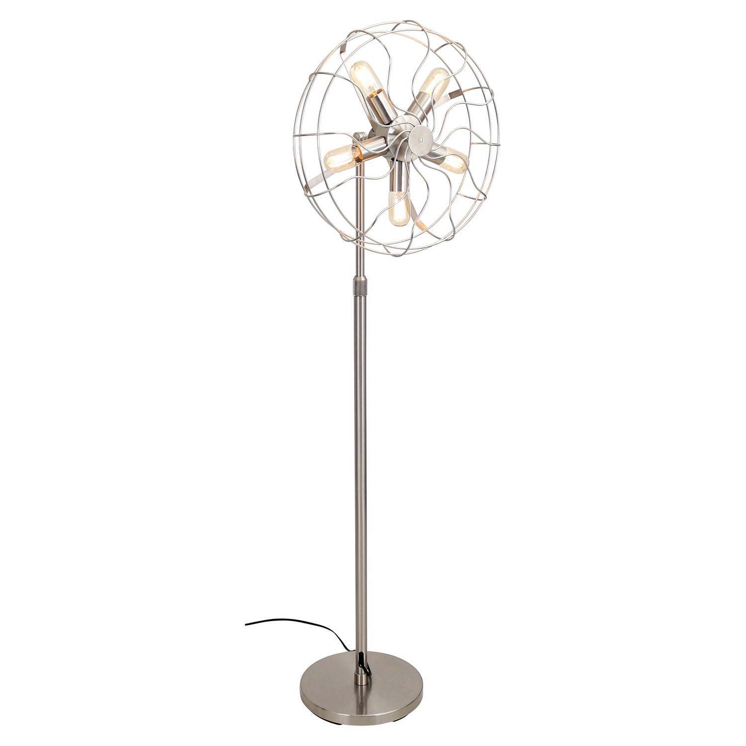 Ozzy Floor Lamp - Satin Nickel