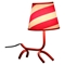 Woof Table Lamp - Red, White - LMS-LS-L-WFTBL-R-W