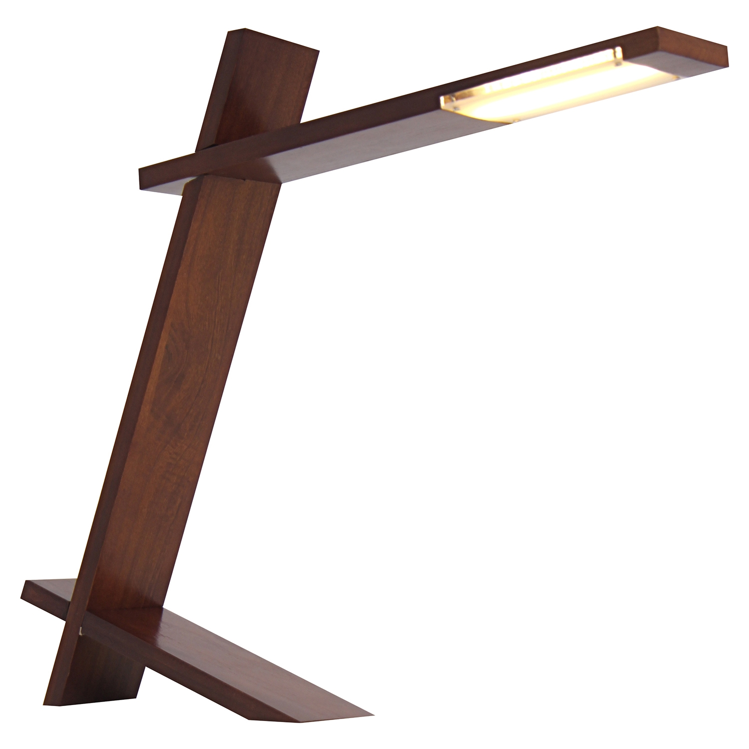 Plank Table Lamp - Walnut