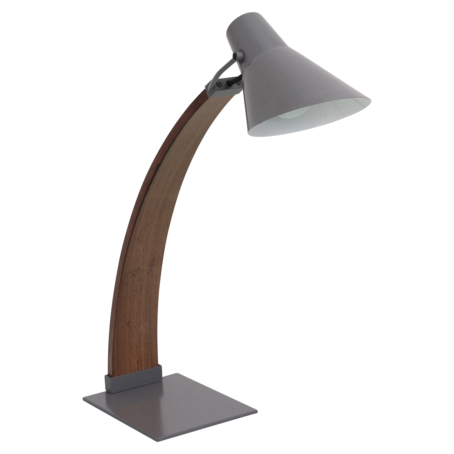 Noah Table Lamp - Walnut, Gray