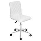 Caviar Height Adjustable Office Chair - Swivel, White