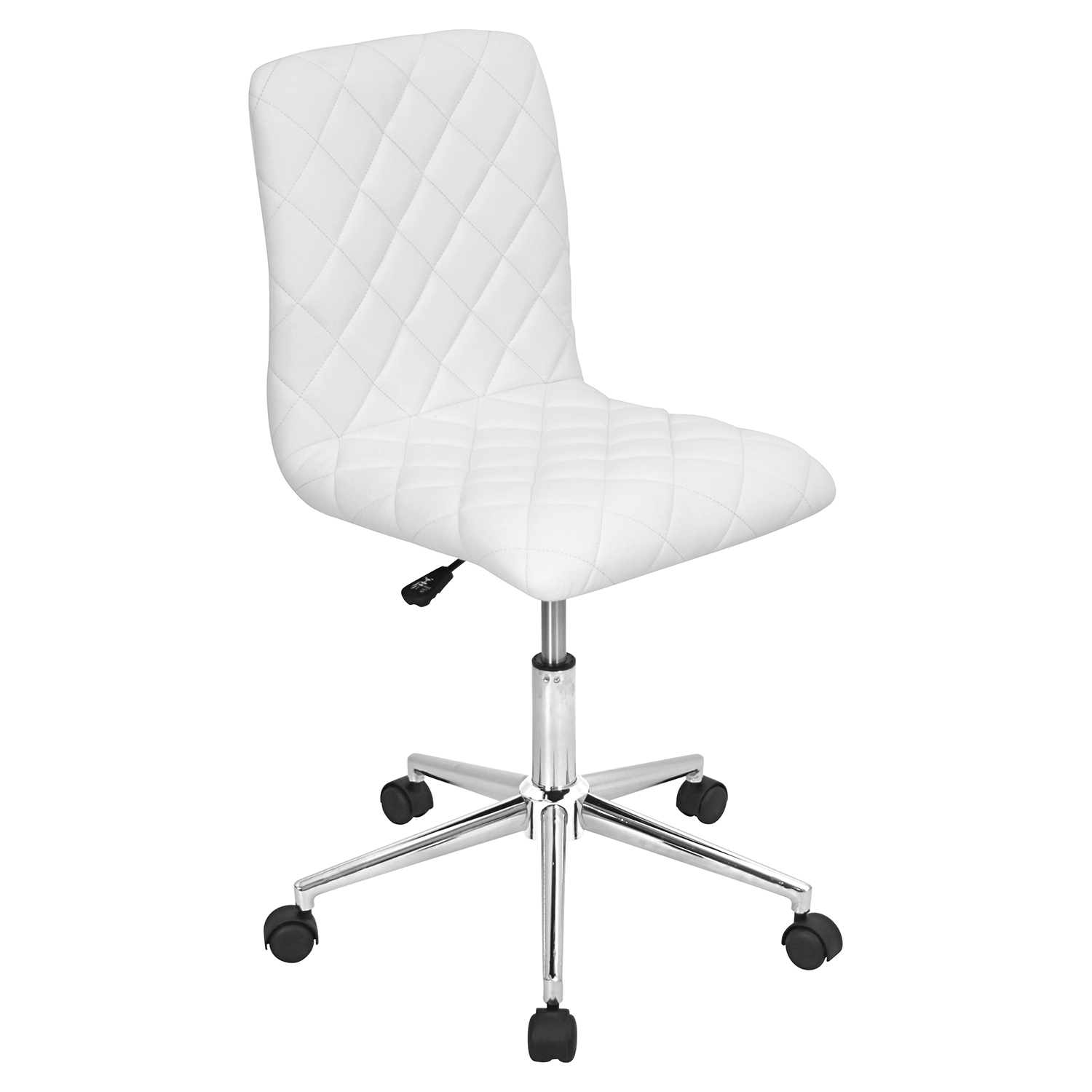 Caviar Height Adjustable Office Chair - Swivel, White - LMS-OC-TW-CAV-W