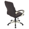 Category Height Adjustable Office Chair - Swivel, Brown - LMS-OFC-AC-CAT-CHMP