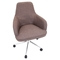 Degree Height Adjustable Office Chair - Swivel, Gray - LMS-OFC-AC-DGR-BN