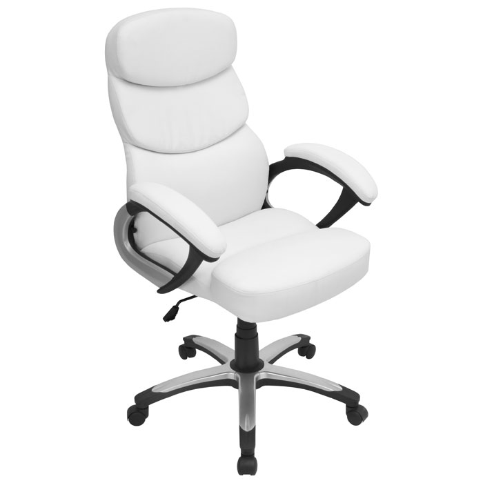 Doctorate High Back Office Chair - Armrests, White