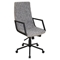 Senator Height Adjustable Office Chair - Swivel, Black, Tan - LMS-OFC-AC-SN-BK-T