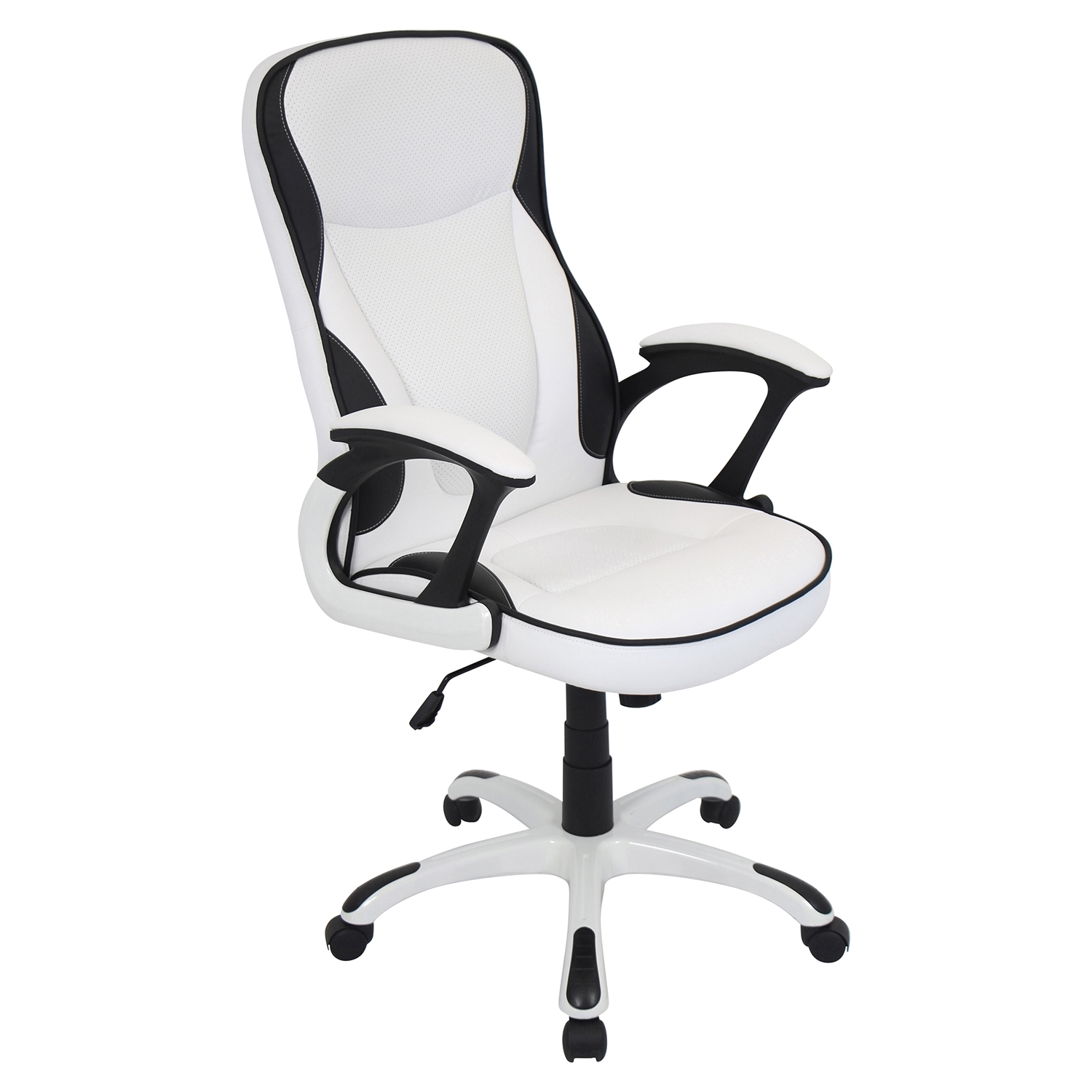 Storm Height Adjustable Office Chair - Swivel, White