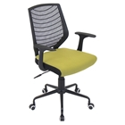 Network Height Adjustable Office Chair - Swivel, Black, Green