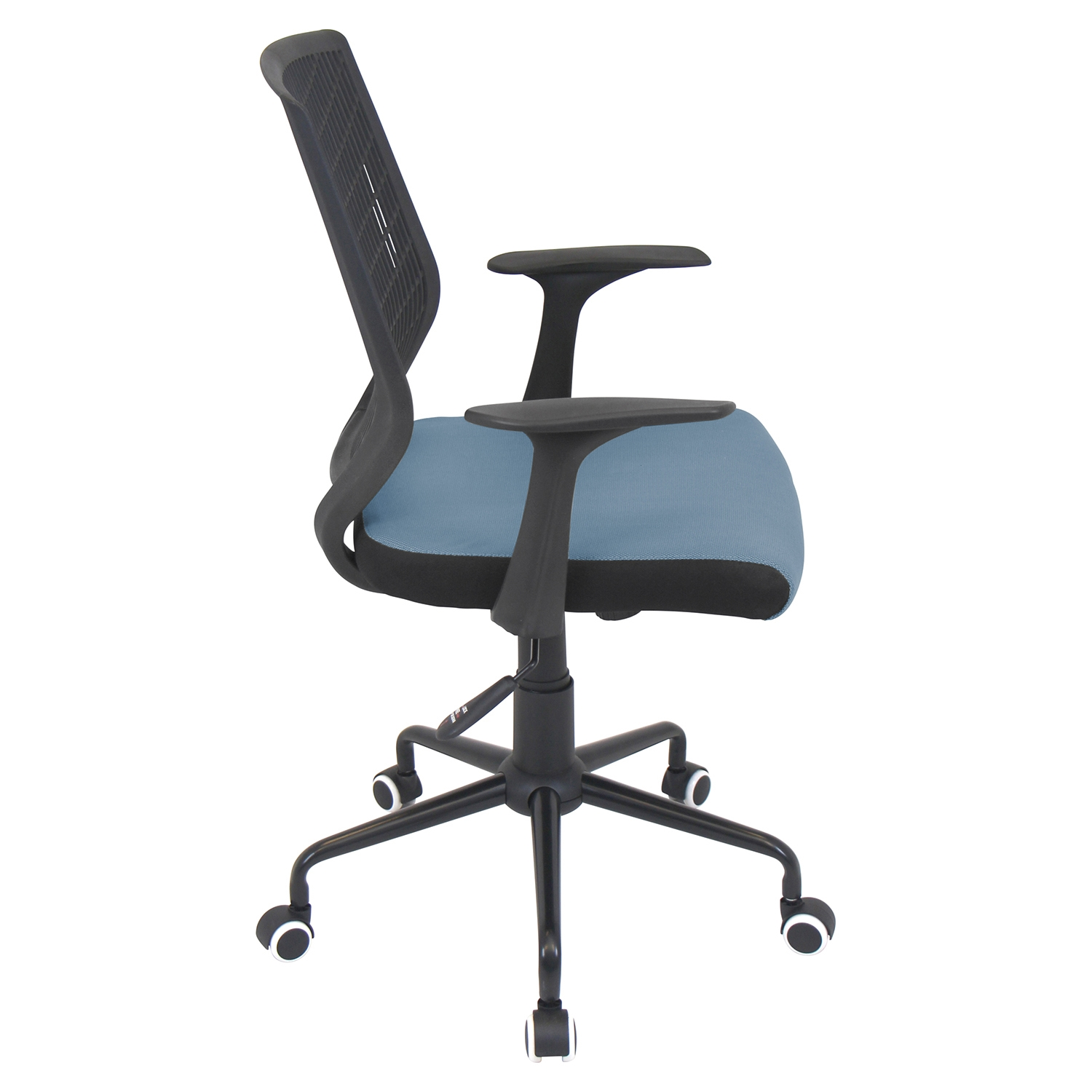 Network Height Adjustable Office Chair - Swivel, Black, Smoked Blue - LMS-OFC-NET-BK-SMBU