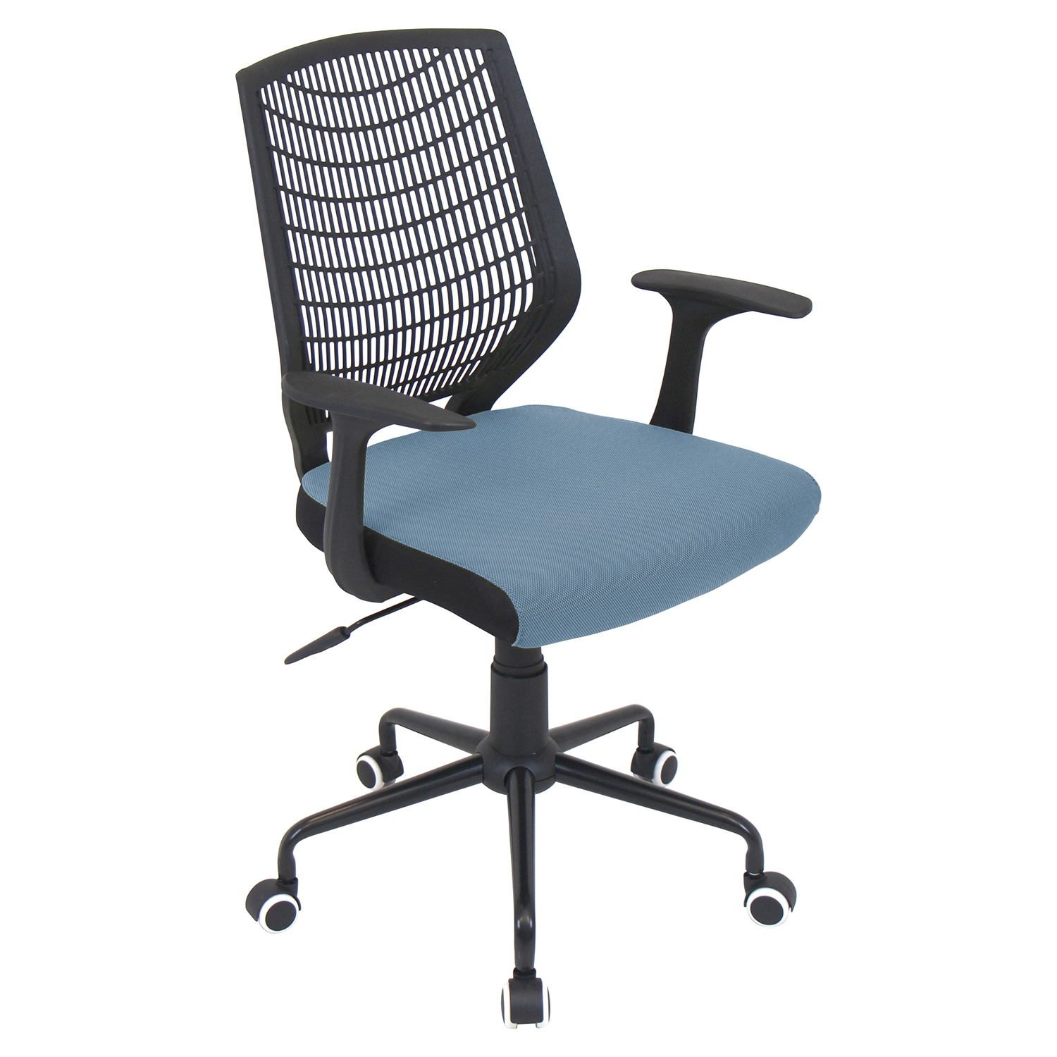 Network Height Adjustable Office Chair - Swivel, Black, Smoked Blue
