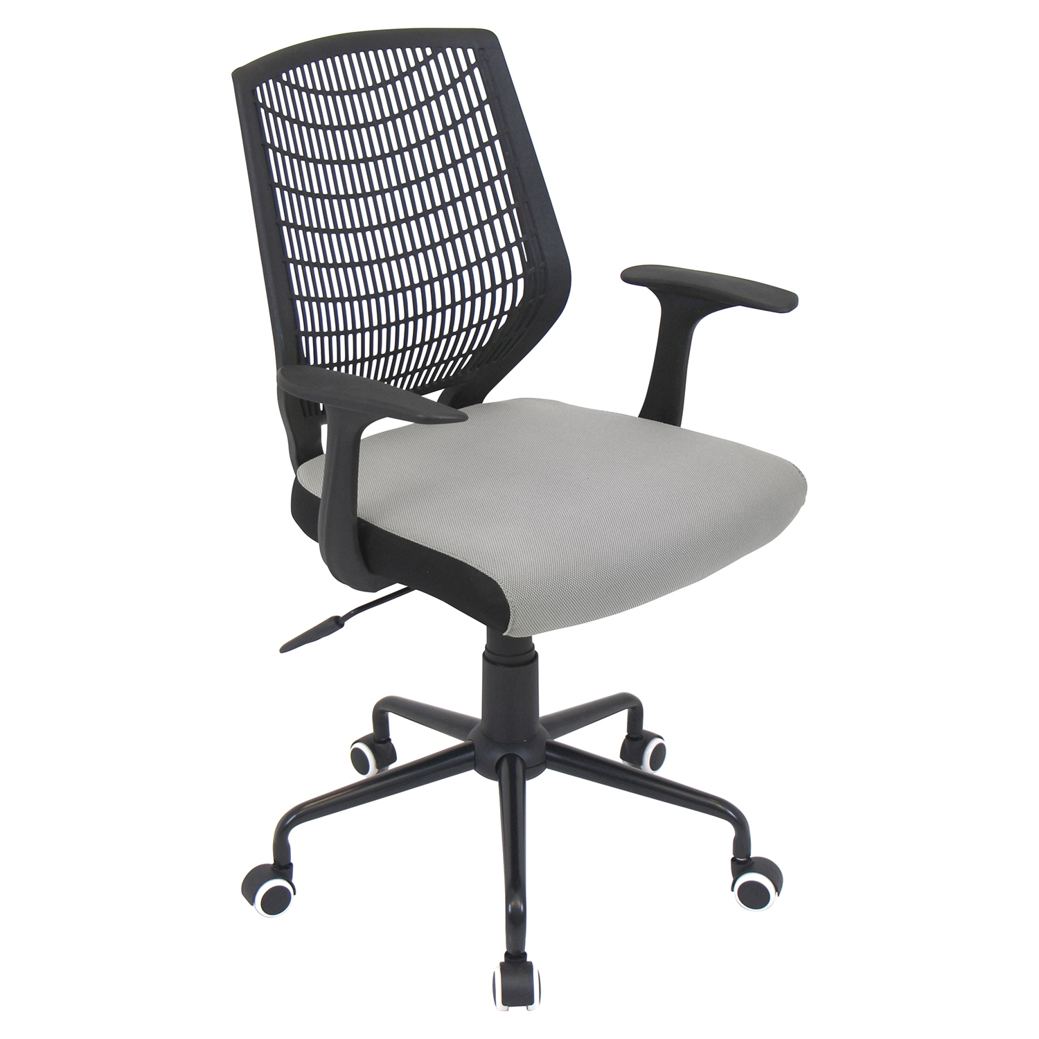 Network Height Adjustable Office Chair - Swivel, Black, Silver