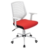 Network Height Adjustable Office Chair - Swivel, White, Red