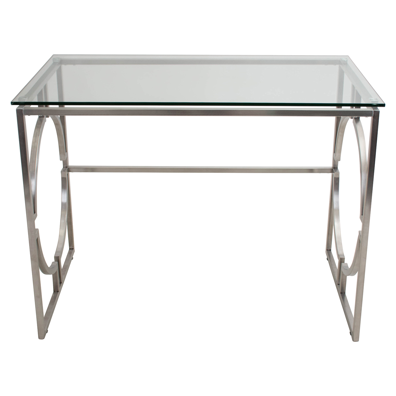 Dynasty Rectangular Office Desk - Clear - LMS-OFD-DNSTY-CL