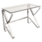 Foundry Rectangular Office Desk - Clear - LMS-OFD-FOUNDRY-CL