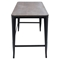 Pia Wood Top Office Desk - Espresso, Black - LMS-OFD-PIA-BK-E