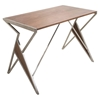 Tetra Office Desk - Walnut, Silver