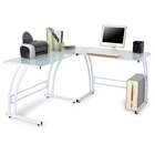 Gamma Glass and Metal Office Desk