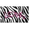 Zebra Print Glass Top Office Desk - Metal Frame - LMS-OFD-TM-BITSGL-Z