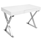 Luster Rectangular Office Desk - White
