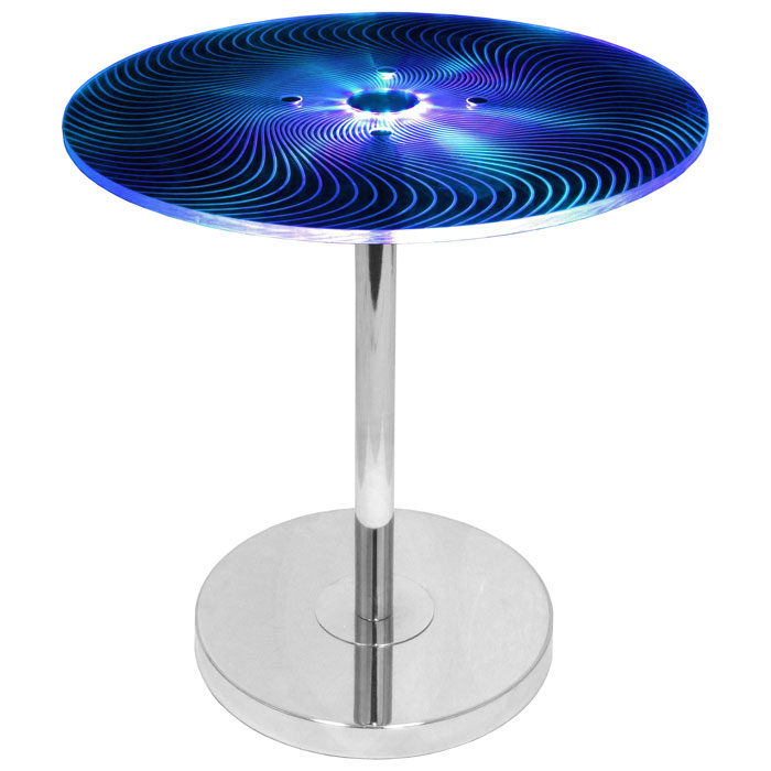 Spyra Glowing Acrylic End Table