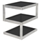 5S Rectangular End Table - Black - LMS-TB-5S-BK