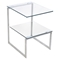 6G Rectangular End Table - Clear - LMS-TB-6G-SS