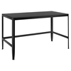Pia Rectangular Office Desk - Black