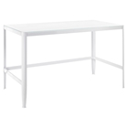 Pia Rectangular Office Desk - White