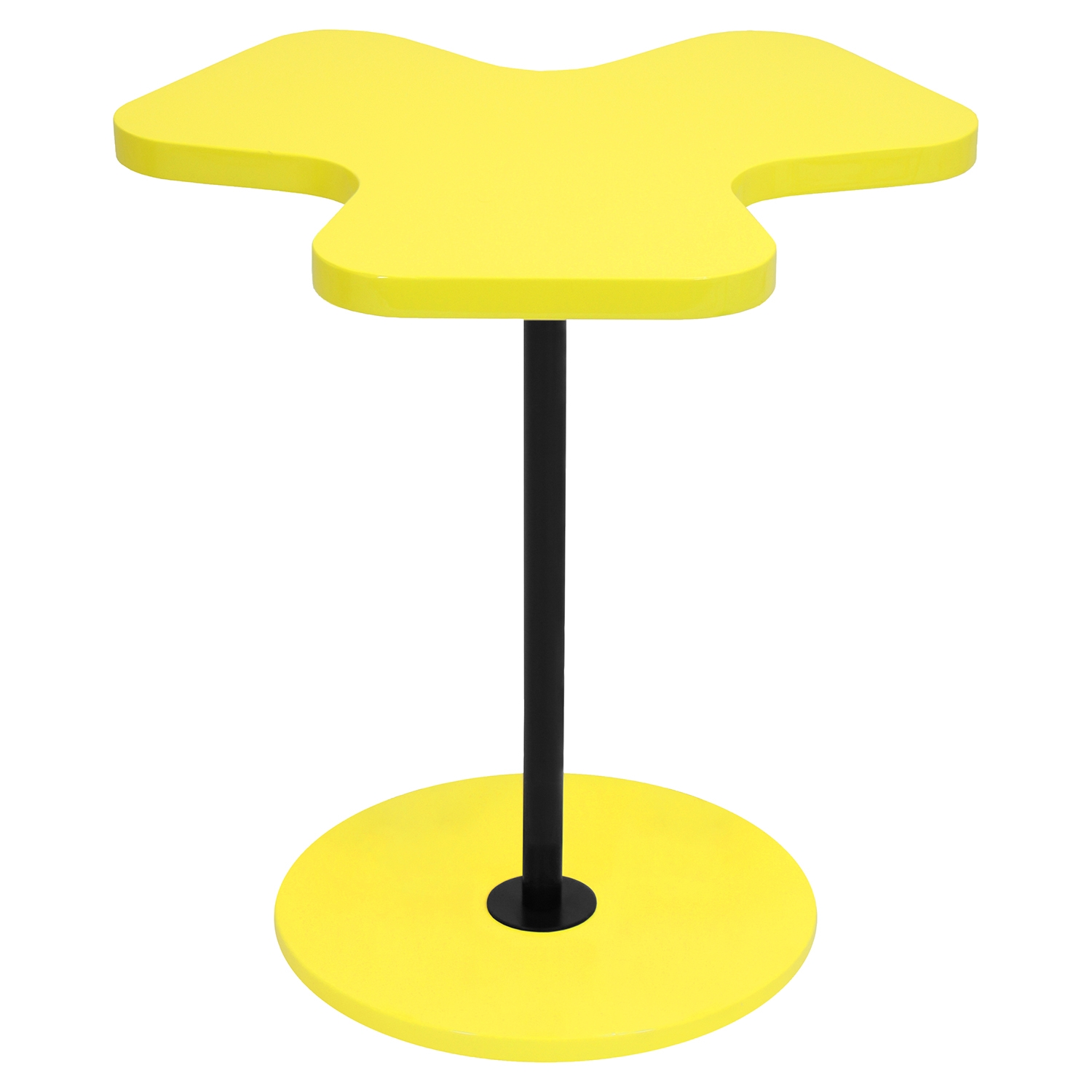 Clover End Table - Yellow