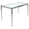 Fuji Rectangular Dining Table - Clear