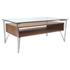 Hover Rectangular Coffee Table - Walnut