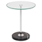 Ripple Round End Table - Clear - LMS-TB-RIPPLE