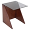 Tabulo Glass Top Side Table - Walnut, Smoked - LMS-TB-TBLO-WL-SM