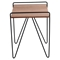 Loft Rectangular End Table - Walnut - LMS-TBE-LOFT-WL-BK