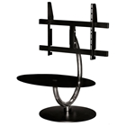 Black TV Stand with Swivel Mechanism