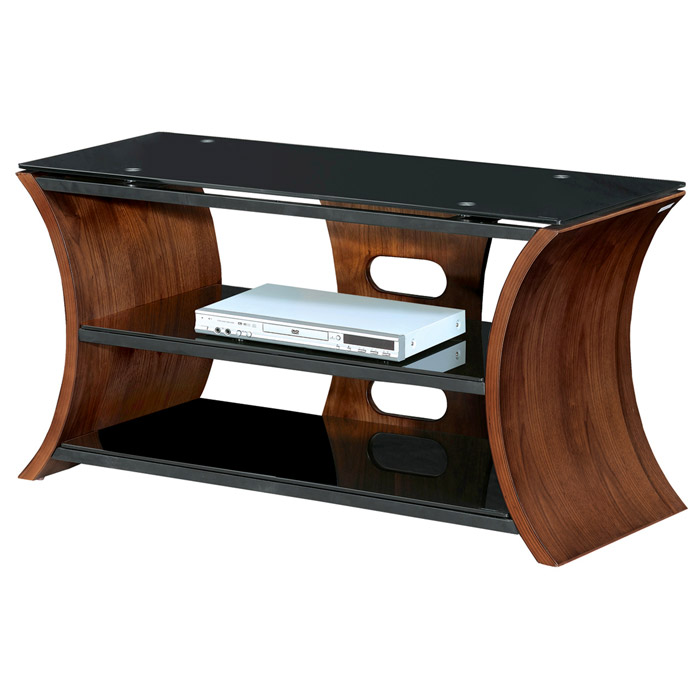 Metro Series 168 TV Stand with Black Tempered Glass