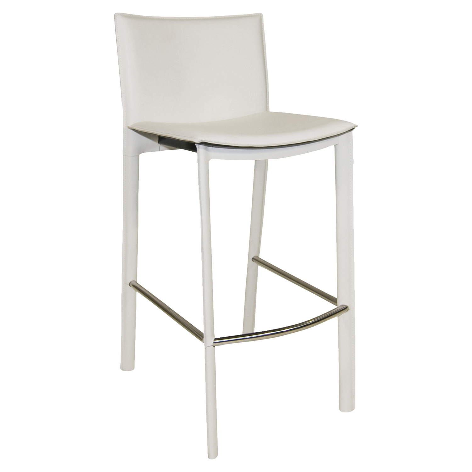 Panca Counter Stool - White