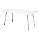 Pampa Dining Table - White Glass