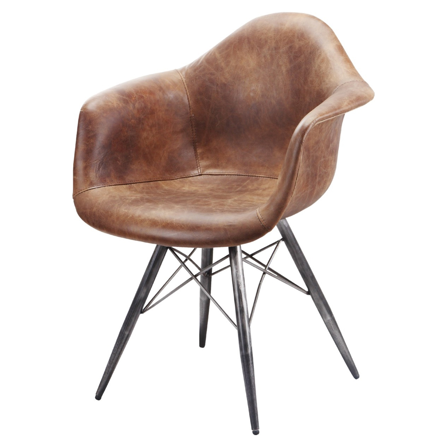 Flynn Club Chair - Light Brown - MOES-PK-1055-03