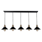 Renata Linear 5 Lights Pedant - Black