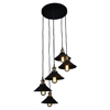 Renata Circular 5 Lights Pendant Lamp - Black